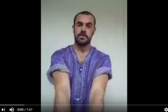 شريط فيديو لناصر الزفزافي، قائد حراك الريف الحراك وهو شبه عار هو ضرب لكرامة الانسان