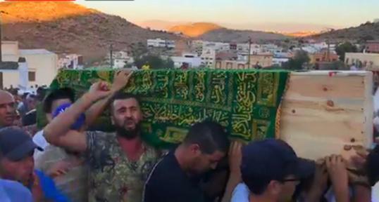 جنازة  الشهيد عماد العتابي بالحسيمة/ فيديو