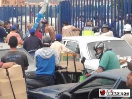 El paso fronterizo entre Bninsar, farjana, Barriochino y Melilla es catastrofico