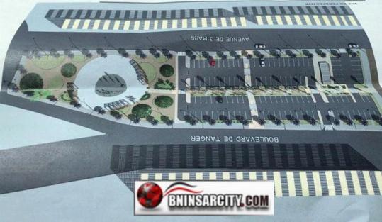 محطة سيارات الأجرة الجديدة بالناظور التي ستشيد فوق منطقة خضراء
