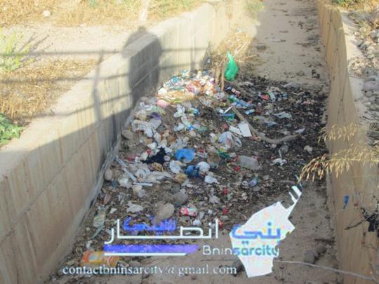 تهاون مجلس بلدية بني انصار لتنقية الأودية
