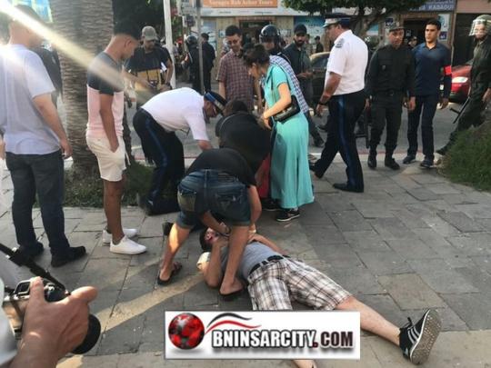 قوات الامن بالناظور تستعمل العنف لتفريق نشطاء حاولوا تنظيم مسيرة سلمية لمساندة معتقلي حراك الريف