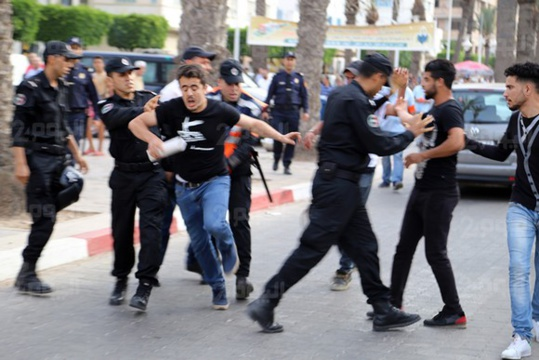 السلطات المحلية  تمنع وقفة احتجاجية لنشطاء الحراك الشعبي بالناظور