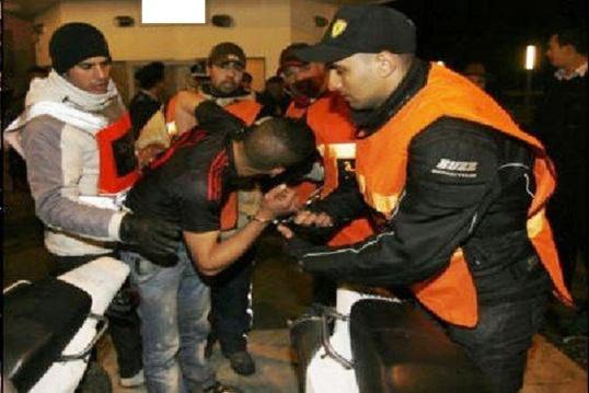 معركة طاحنة بين شباب من بني انصار والناظور بسبب فتيات الليل قرب فندق مشهور