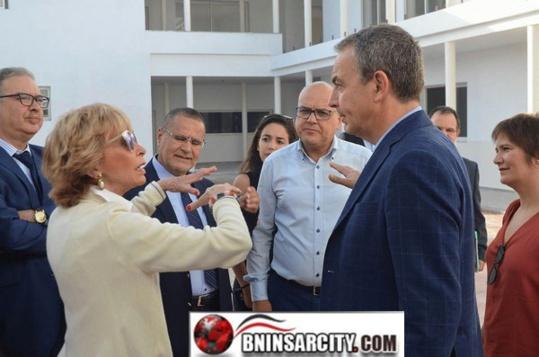 """رئيس الحكومة الإسبانية الأسبق  خوسيه لويس ثاباتيرو يقوم بزيارة ميدانية للمنطقة السياحية """"أطاليون"""" مارتشيكا"""