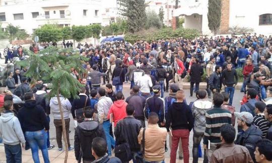 احتجاجات طلبة جامعة محمد الأول بوجدة