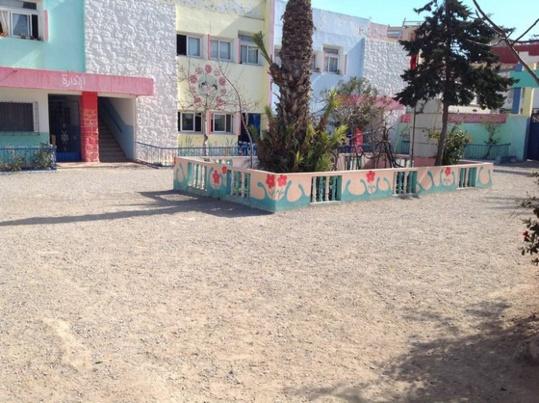 مدرسة البكري ببني انصار تكتسي حلة جديدة