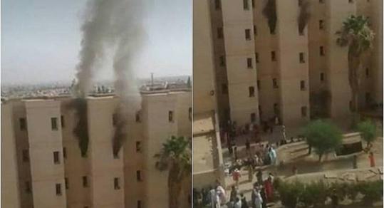 حريق يأتي على جناح بالحي الجامعي ويخلف خسائر مادية