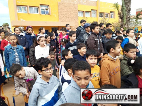 اختتام الاحتفال بالمسيرة الخضراء وعيد الاستقلال بمدرسة البكري ببني انصار