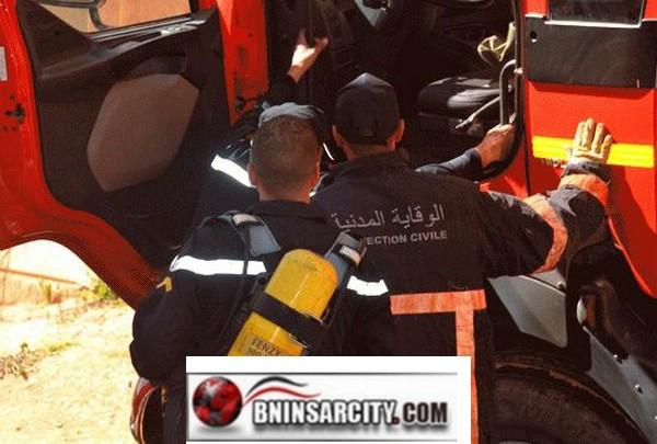 خطير: اندلاع حريق بمنزل باشا مدينة بن الطيب/فيديو