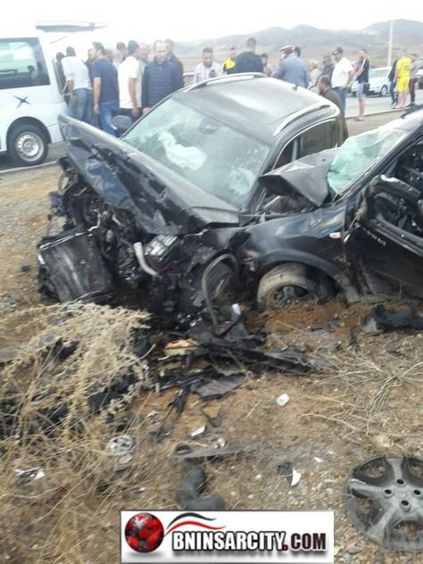 حادثة سير خطيرة بين سيارتين  برأس الماء بمدينة الناظور.