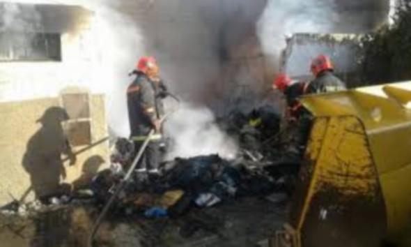 اندلاع حريق مهول داخل منزل دون أن يسفر عن أي خسائر في الأرواح