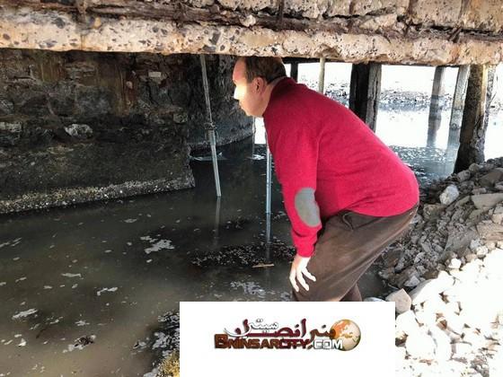 سعيد زارو المدير العام لوكالة تهيئة بحيرة مارتشيكا يتفقد عملية ترميم النادي البحري كلوب
