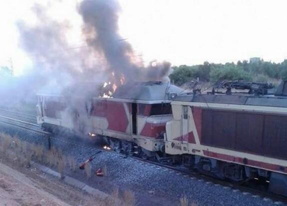 اندلاع حريق في قطار بجماعة حاسي بركان