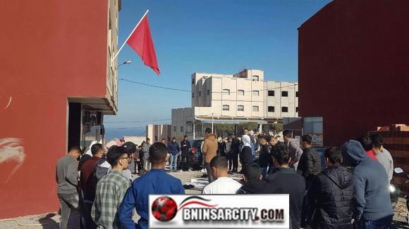 """احتجاجات طلبة """"بني بوغافر"""" بإقليم الناظور ضد تنصل المسؤولين من تحقيق مطلب دعم النقل الجامعي"""