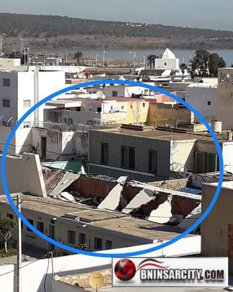 هدم بناية السجن القديم قرب ثانوية الشريف أمزيان بالناظور
