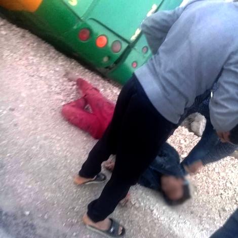 انقلاب حافلة لنقل المسافرين قادمة من وجدة الى الحسيمة