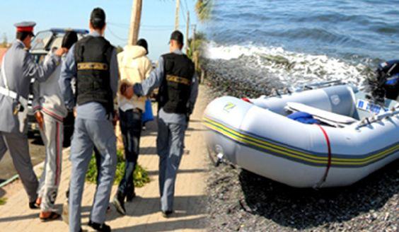 """عناصر الدرك القضائي بزايو يوقف """"حراكة"""" ويحجز قارب مطاطي بقرية أركمان"""