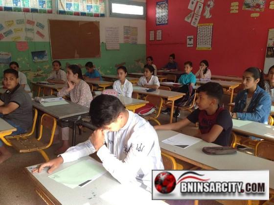 أجواء امتحان نيل شهادة الدروس الابتدائية بمدرسة البكري للتعليم العمومي ببني انصار