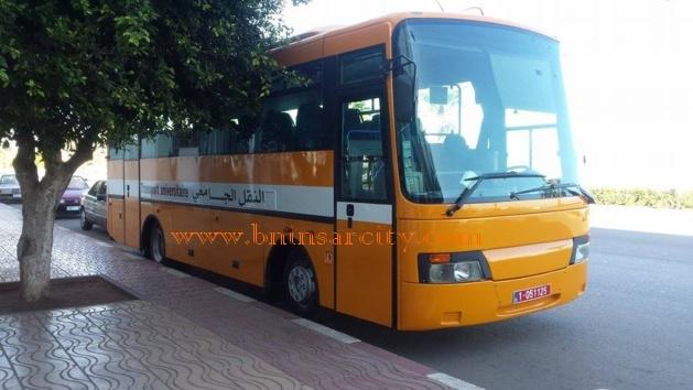 محمد ابرشان: يرد على المحتجين ضده بركن حافلة للنقل الجامعي امام العمالة