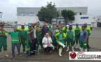 عمال النظافة بميناء بني انصار يضربون عن العمل