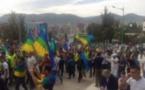 مسيرة حاشدة للطلبة الريفيون بجامعة محمد الأول بوجدة احتجاجا على العنف الممارس ضد المتظاهرين بالحسيمة