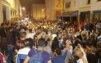 مسيرة إحتجاجية حاشدة  بمدينة إمزورن شارك فيها عدد من النشطاء للمطالبة باطلاق سراح المعتقلين