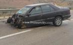 حادثة سير خطيرة اثر اصطدام شاحنة بسيارة خفيفة  بالحسيمة