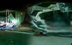 حادثة سير خطيرة : مصرع  شخص وجرح آخرين بعد انقلاب شاحنة لنقل البضائع