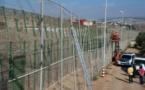 إزالة سياج الأسلاك الشائكة بين  ببني انصار باريو تشينو فرخانة و مليلية المحتلة
