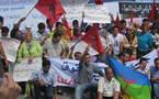وقفة احتجاجية ضد الزيارة الابتزازية لماريانو رخوي