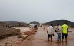 حادث خطير: حافلة نقل المسافرين تجرفها المياه بالراشدية