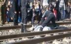 انتحارمواطن بالناظور  بعد إرتمائه تحت عجلات القطار