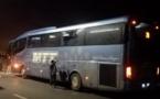حراكة يعتدون على حافلة  للنقل الدولي رشقا بالحجارة بالطريق الرابطة بين ميناء بني انصار و الناظور