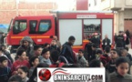 """حريق مهول يندلـع بإحدى المنازل وسط الحي العسكري """"تاويمة"""" بالناظور"""
