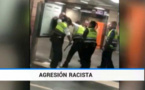 استعمال العنف والضرب بالهراوات لمهاجر مغربي حاول التسلل الى بهو محطة ساحة كاتالونيا في برشلونة / فيديو