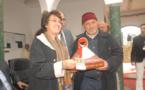وزيرة الصناعة التقليدية والاقتصاد الاجتماعي والتضامني السيدة فاطمة مروان تثمن منتوج الطاجين المغربي بسلا