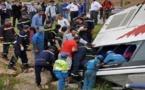 انقلاب حافلة للنقل الحضري و جرح أزيد من 30 راكبا جلهم من التلاميذ و الطلبة