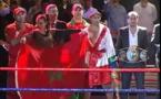 ضربة قاضية للملاكم المغربي ضد خصمه الجزائري/ فيديو