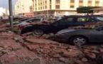 Derrumbarse un muro en la calle Carlos V de Melilla; Sin víctimas