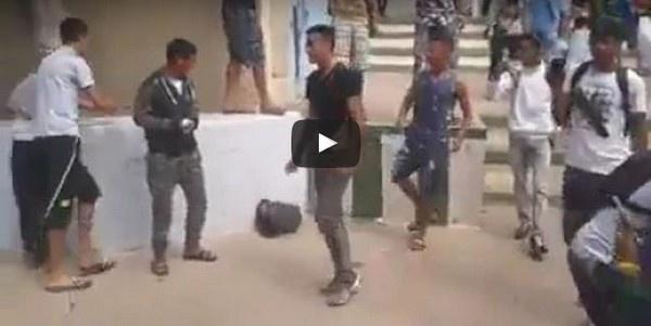 الامتحان الجهوي للباكالوريا: تلاميذ يخربون مؤسستهم التعليمية بسبب صرامة حراسة الإمتحان/ فيديو