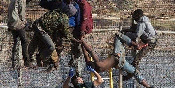 مليلية المحلية: 200مهاجرا سريا يدخلون عبر السياج الشائك ووفاة احدهم / فيديو