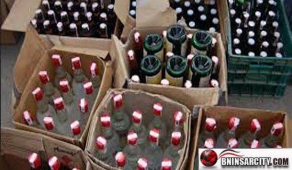 جمارك المعبر الحدودي بني انصار/ باب مليلية تحبط عملية تهريب  188 قنينة من الخمور