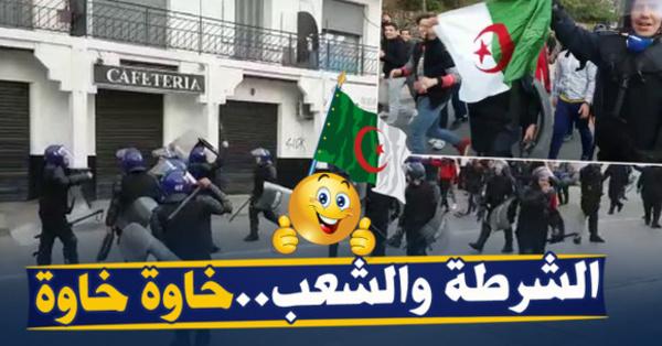 """الشرطة الجزائرية تشارك في الاحتجاجات  لإسقاط نظام """"بوتفليقة"""" / فيديو"""