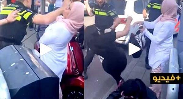 استنكارا واسعا على مواقع التواصل الإجتماعي بسبب شرطيان هولنديان يعنفان عدد من المواطنين بينهم نساء/ فيديو