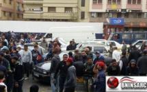 المعبر الحدودي الوهمي باب مليلية المحتلة: اقتحام مجموعة من المهربين  نقطة التفتيش الخاصة بالجمارك
