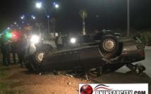 حادثة سير خطيرة: إنقلاب سيارة بطريق بني انصار/ الناظور تسفر عن خسائر مادية جسيمة