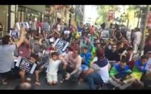 مسيرة إحتجاجية من برشلونة ضد الأحكام القضائية على زعماء حراك الريف/ فيديو