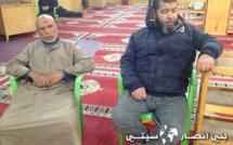 تجويد القرآن الكريم بمسجد النور ببني انصار من طرف طلبة المعهد الخيري للإمام ورش