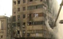 حريق هائل وسط العاصمة المصرية واحتمال أن يكون عمل إرهابي